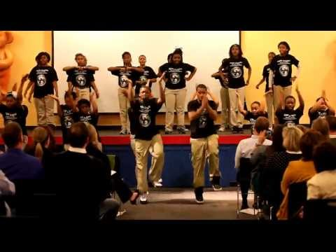 KIPP Inspire Academy students perform step dance at World Bearquarters