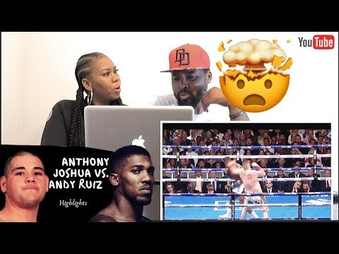 ANDY RUIZ Jr vs ANTHONY JOSHUA| full fight Highlights| REACTION with GIRLFRIEND(Joshua fan)