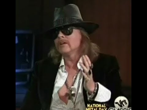 Guns N' Roses Axl Rose Discusses The Rock N' Roll Hall of Fame & Guns N' Roses Induction History!