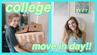 COLLEGE DORM MOVE IN DAY VLOG 2019!