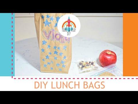 DIY LUNCH BAGS: Make and Play DIY