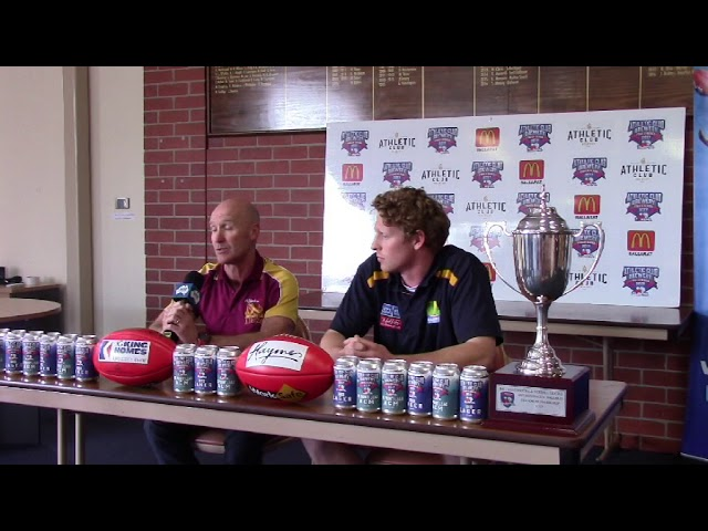 2017 Finals Conferences  - Week Two - Lake Wendouree v Redan Senior Football
