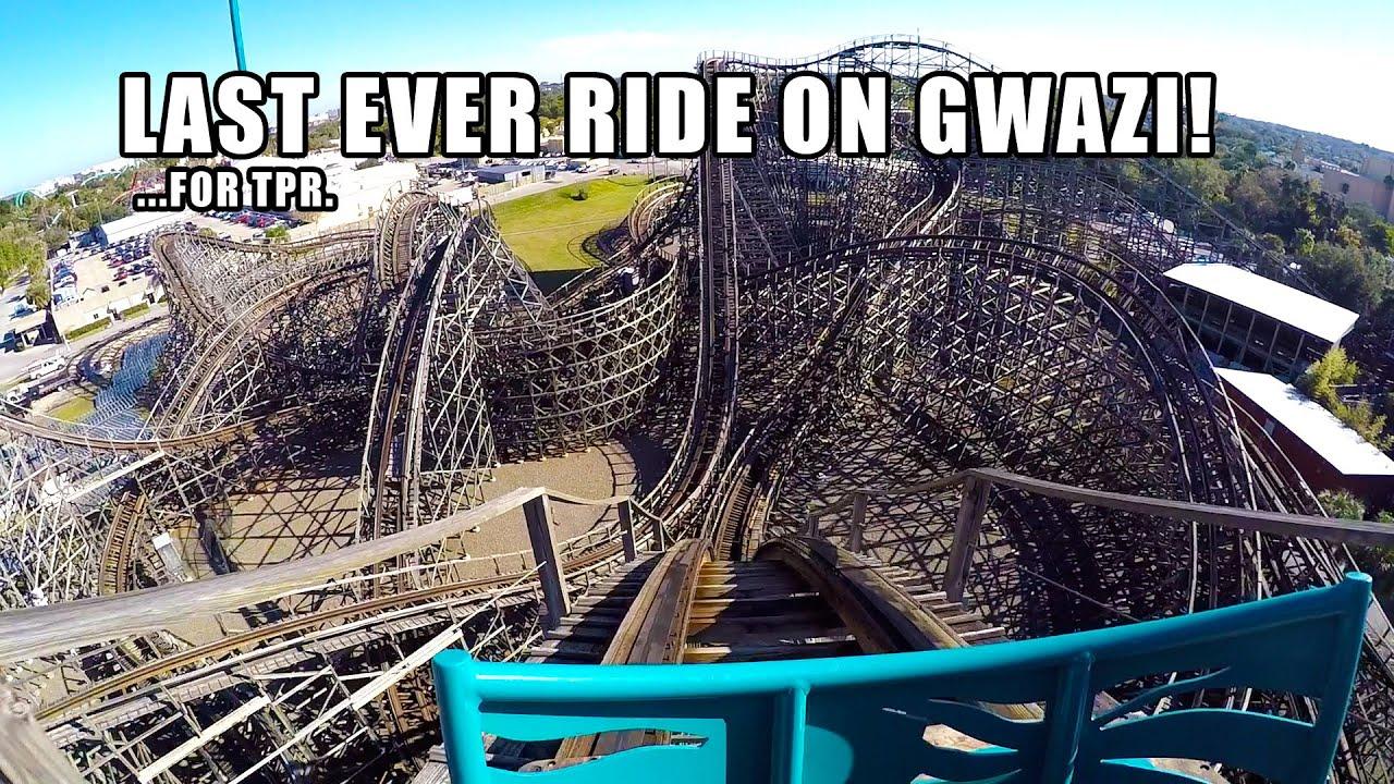 Last ride ever on gwazi roller coaster pov for tpr busch - Busch gardens tampa roller coasters ...