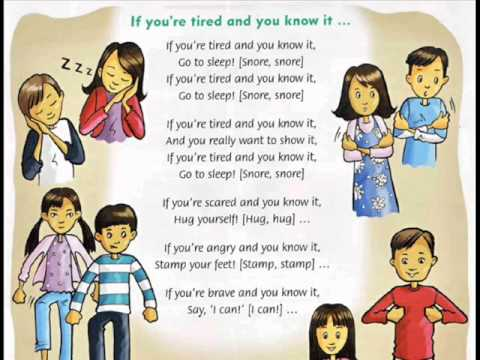 If you are tired and you know it song for children