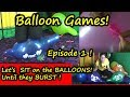 Balloon Games Learn Colours - Sit on Balloons until they POP!  Balon Tiup Balon Patlaması Yarışı