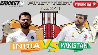 Day 1 - 1st TEST INDIA vs PAKISTAN 2020 Live match Scorecard Full series Cricket 19 live Gameplay