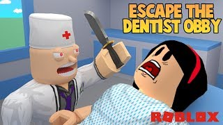 AUNT GRACE WENT TO THE DENTIST AND REGREDED!!! -ROBLOX (ESCAPE THE DENTIST OBBY)