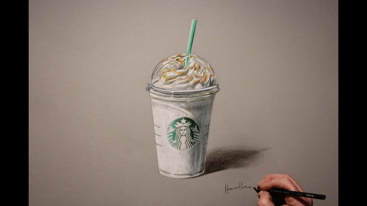 Drawing Time Lapse Starbucks Frappuccino Youtube