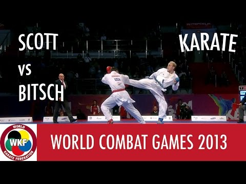 Karate Men's Kumite -75kg. SCOTT vs BITSCH. World Combat Games 2013