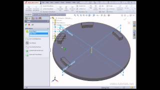 SolidWorks Tutorials - How to model using the circular pattern tool