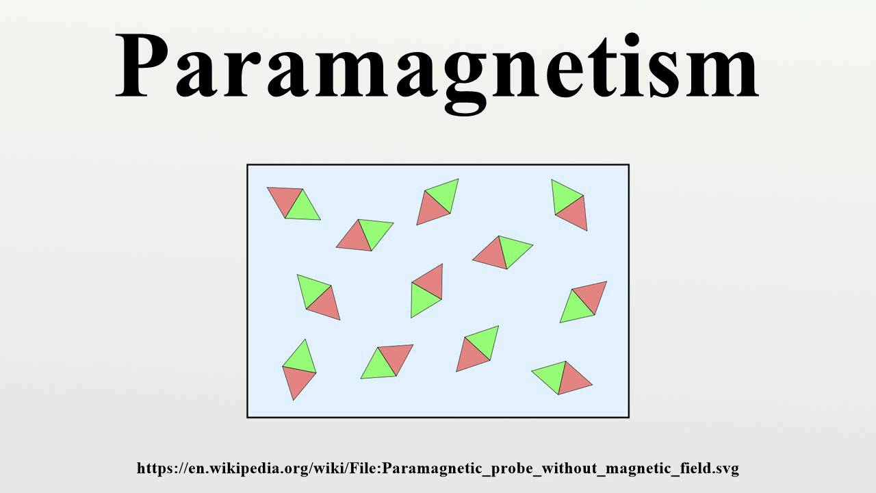 small resolution of paramagnetic