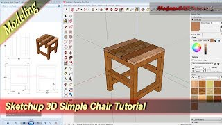 Sketchup Design 3D Simpe Chair Modeling Tutorial