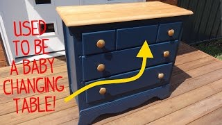 Ex-Baby Changing Table Dresser Makeover