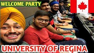 ##Vlog-2 University of Regina Welcome Party||First Day of University||Regina Sasketchwan