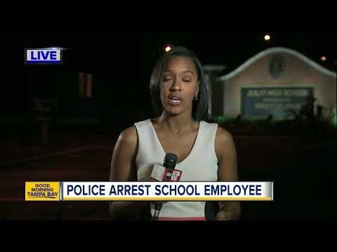 Police arrest school employee