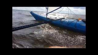 Do it yourself kayak sail  cataraman (kayakamaran?)