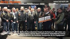 """Harley-Davidson SUNSET CHAPTER AACHEN spendet 1.000 € an den """"Freundeskreis Hospiz am Iterbach e.V."""