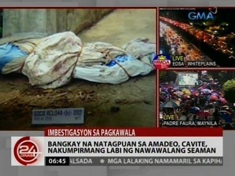 24Oras: Bangkay na natagpuan sa Amadeo, Cavite, nakumpirmang labi ng nawawalang seaman