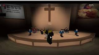 Jesus Is Alive Church in Roblox pls go to this place in roblox