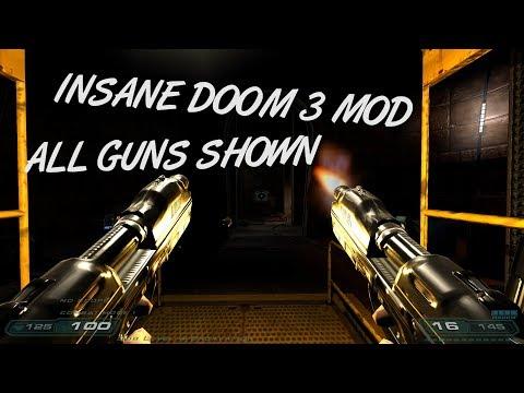 (INSANE MOD) Perfected Doom 3 - All Guns Shown