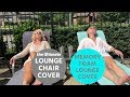 The Ultimate Lounge Chair Cover - Memory Foam Lounge Cover Review