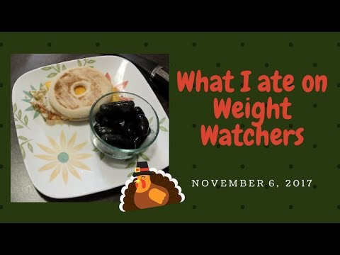What I ate on Weight Watchers - November 6, 2017 - Back to Work Monday
