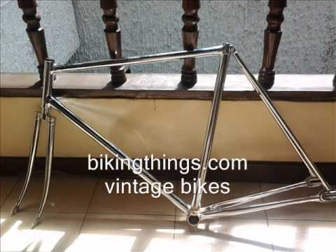 cinelli vintage pista frame, fixed gear cinelli columbus steel frame and fork bikingthings