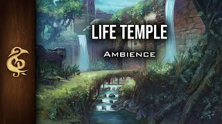🎧 RPG / D&D Ambience - Temple Of The Life | Peaceful, Welcoming, Nature, Water, Breeze, Magic