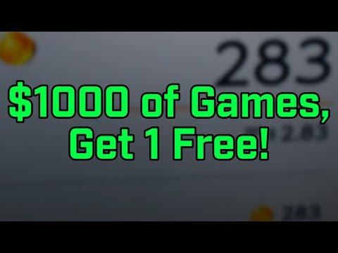 Buy $1000 of Games, Get 1 Free!