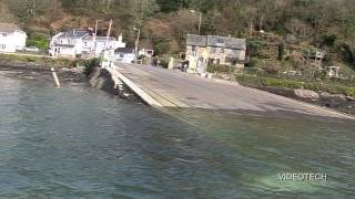 BANKS OF THE RIVER DART (PART 10) NOSS MARINA TO CABLE CAR FERRY, DARTMOUTH UK.