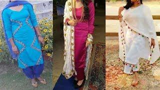 Latest Lace Design Idea On Punjabi Dresses 2019 // Patch Work Suit Design Images