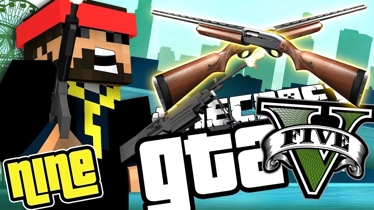 Minecraft GTA 5: TIER 5 SHOTGUN CUSTOMIZATION!! [9]