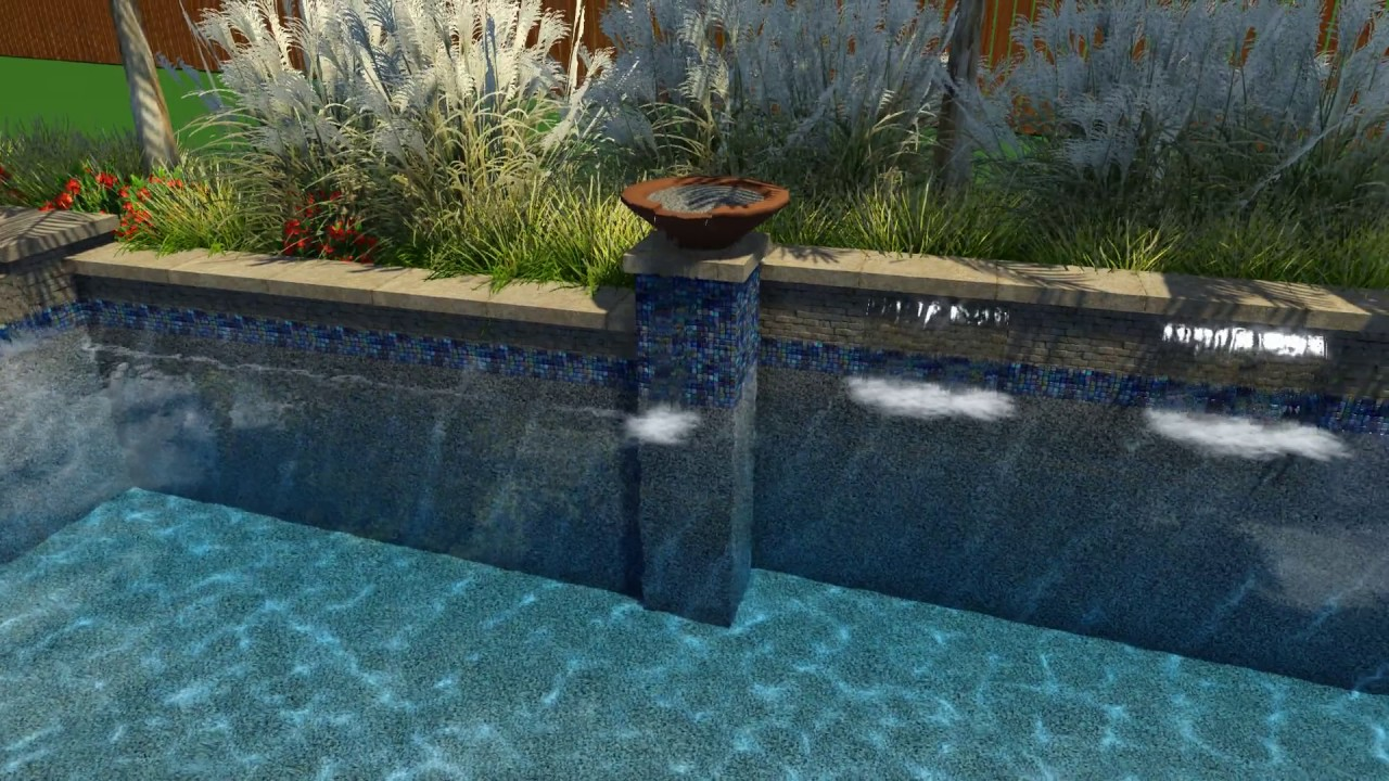 Vanhoy Pool Design by Backyard Amenities - YouTube