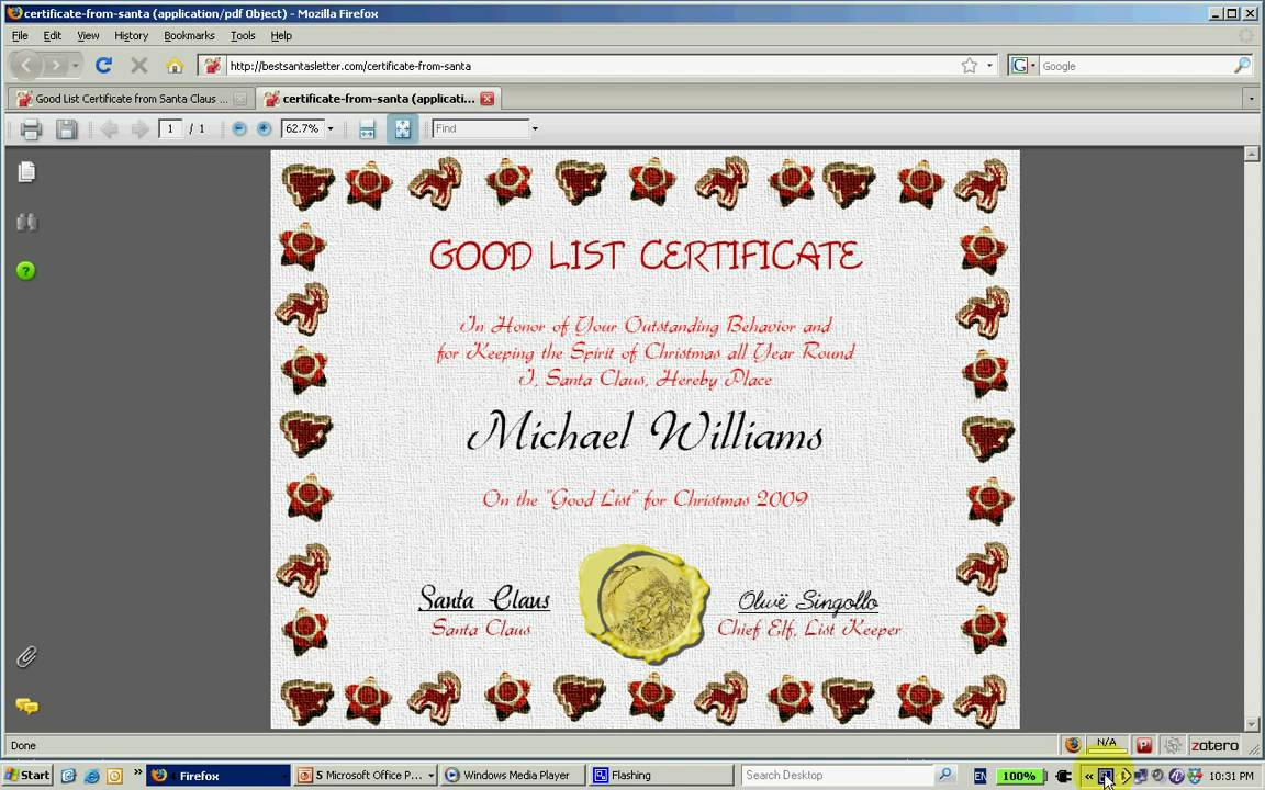 how to create a good list certificate from santa claus how to create a good list certificate from santa claus