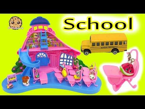 Charm U School House Playset with  Exclusives + Shopkins Season 5 Surprise Blind Bag