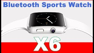 X6 Bluetooth Sports SmartWatch