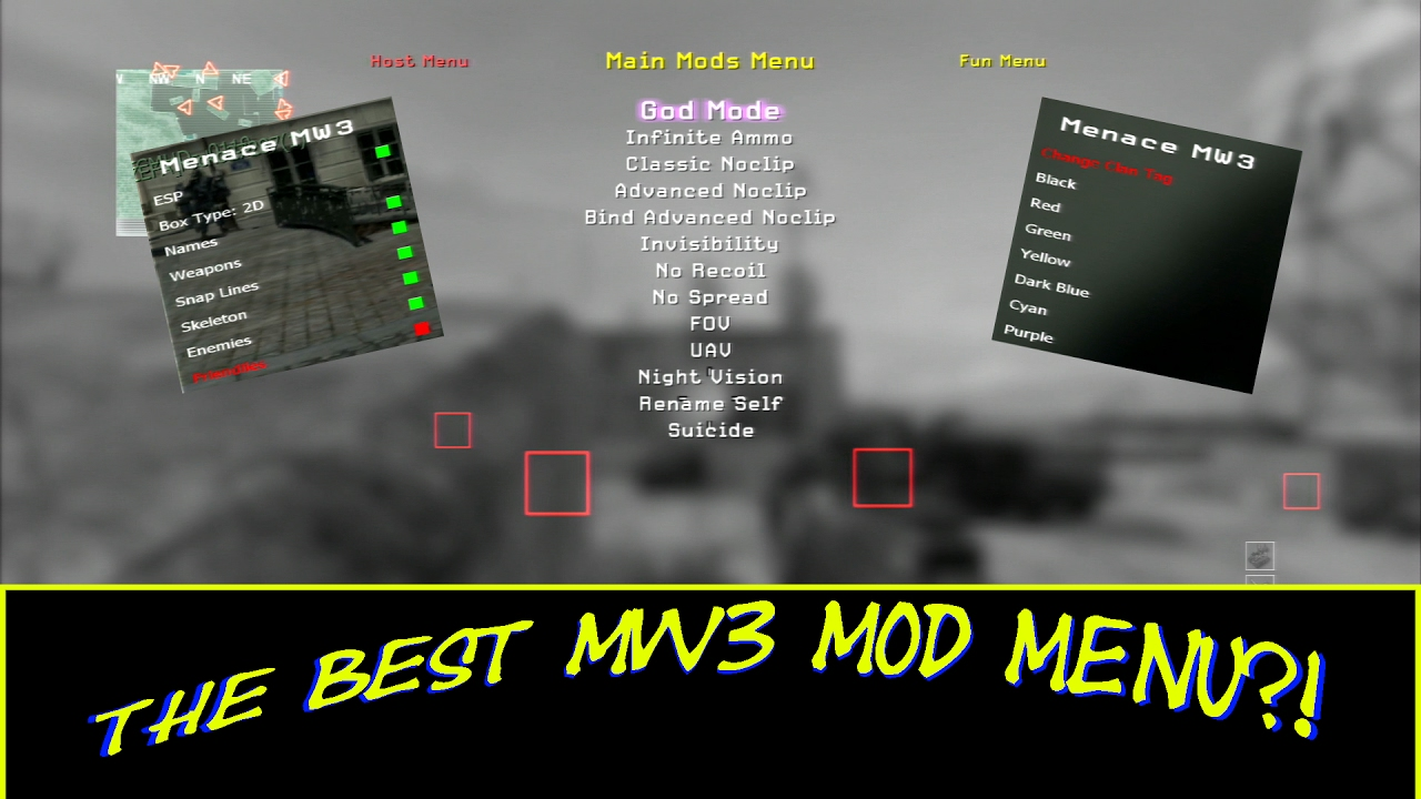 The best mw3 Mod menu!? + Download (Menace MW3)