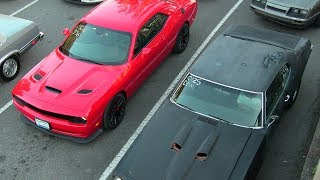 Old vs New Muscle Cars Drag Racing,Dodge Demon,Hellcat,Charger 69',ZL1 Camaro,Camaro SS
