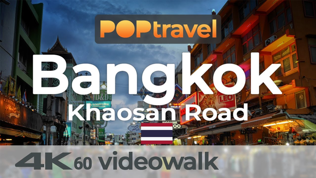 Walking around KHAOSAN ROAD / BANGKOK (Thailand) - 4K 60fps (UHD)