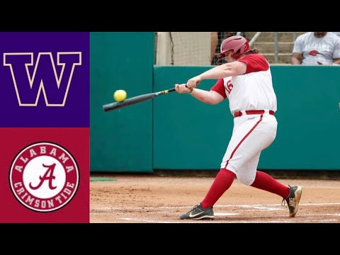 #1 Washington Vs #9 Alabama | 2020 College Softball Highlights