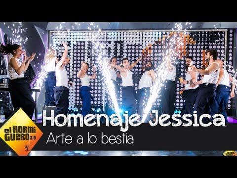 El espectacular arte de 'El Hormiguero' en homenaje a Jessica Chastain - El Hormiguero 3.0
