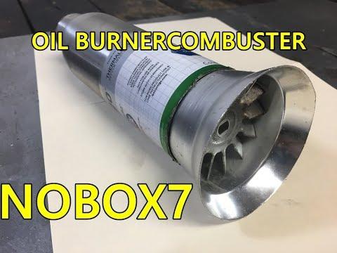Jet engine waste oil burner