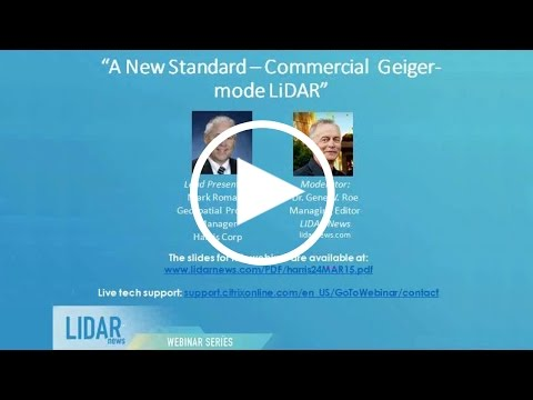 LiDAR News Webinar: A New Standard - Commercial Geiger mode