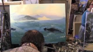 Научиться рисовать море курсы живописи маслом Сахаров