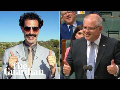 Scott Morrison labels Labor carbon policy the 'Borat tax'