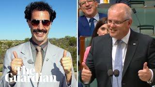 Scott Morrison labels Labor carbon policy the 'Borat tax'