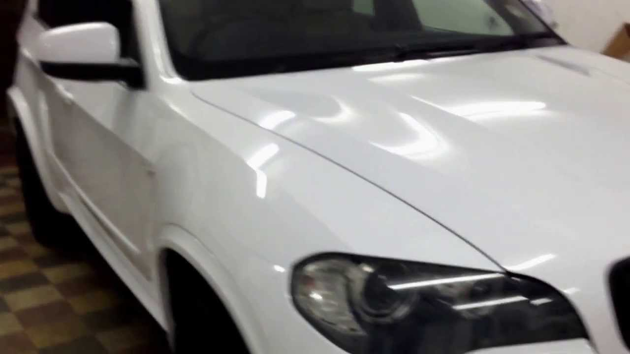 Bmw X5 Gloss White Vinyl Wrap By Wrapping Cars London