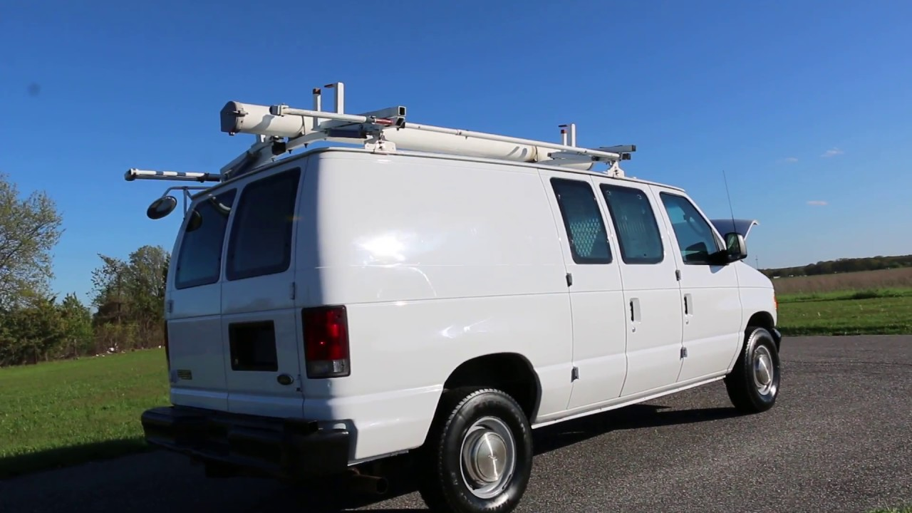 Ford Cargo Van For Sale >> 2003 Ford E350 Econoline Cargo Van For Sale~Racks~Divider ...
