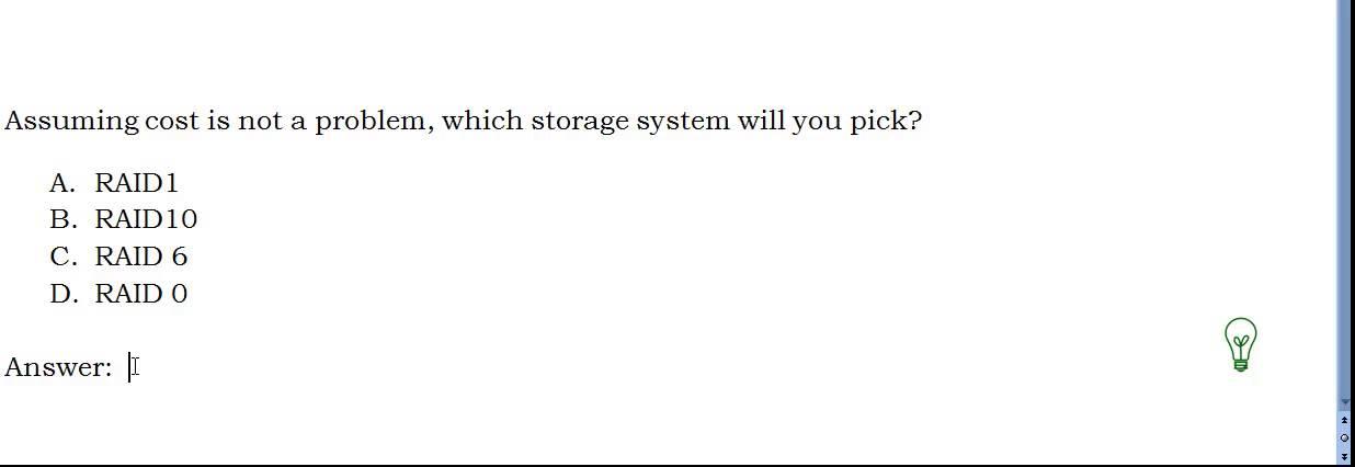 Cissp sample practice question (raid) #256 youtube.