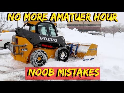 How NOT to Snow plow in a skid loader